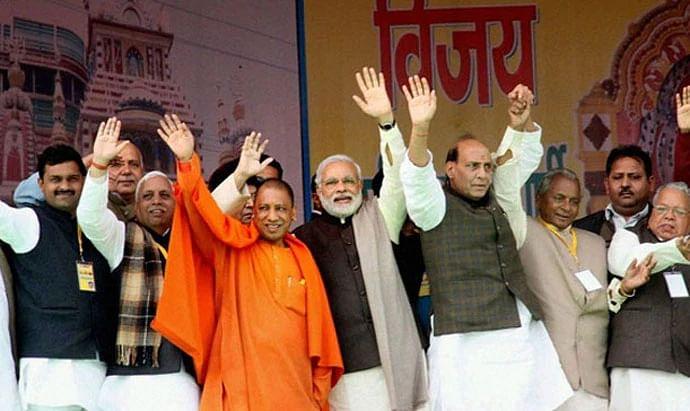 யோகி, மோடி, ராஜ்நாத் சிங்