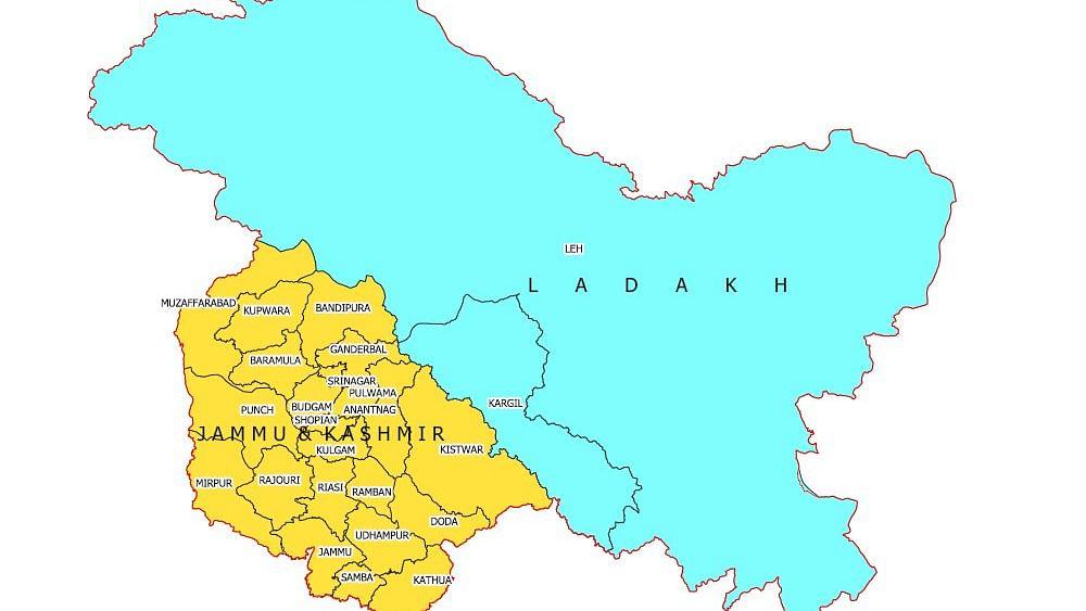 New Map of Jammu Kashmir and Ladakh