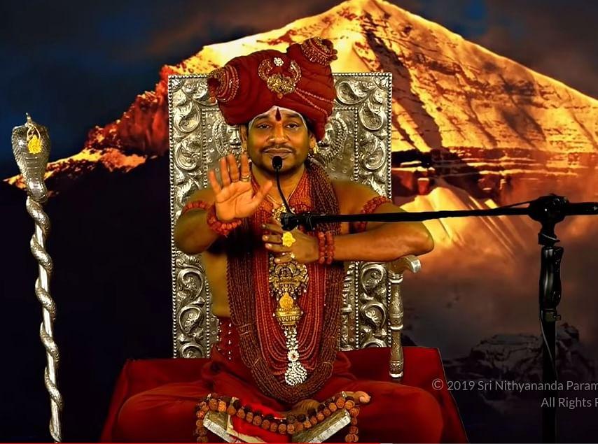 வீடியோவில் பேசும் நித்யானந்தா