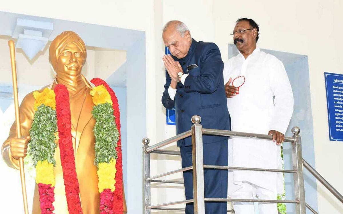 """``பெண்கள் அரசியலுக்கு வர முதலில் குரல் கொடுத்தவர் பாரதியார்""""- ஆளுநர் பன்வாரிலால் புரோஹித்!"""