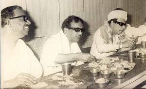 நெடுஞ்செழியன், கருணாநிதி, எம்.ஜி.ஆர்