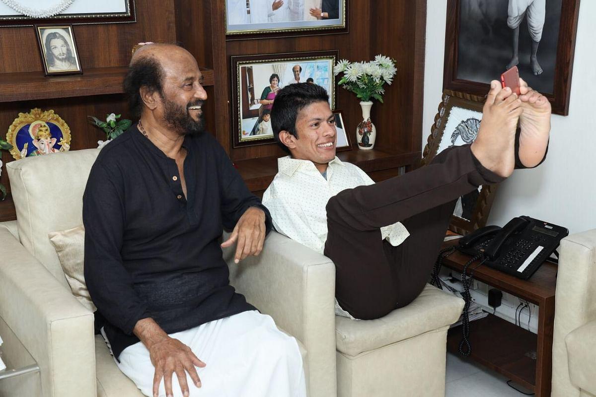 ரஜினியுடன் பிரணவ்