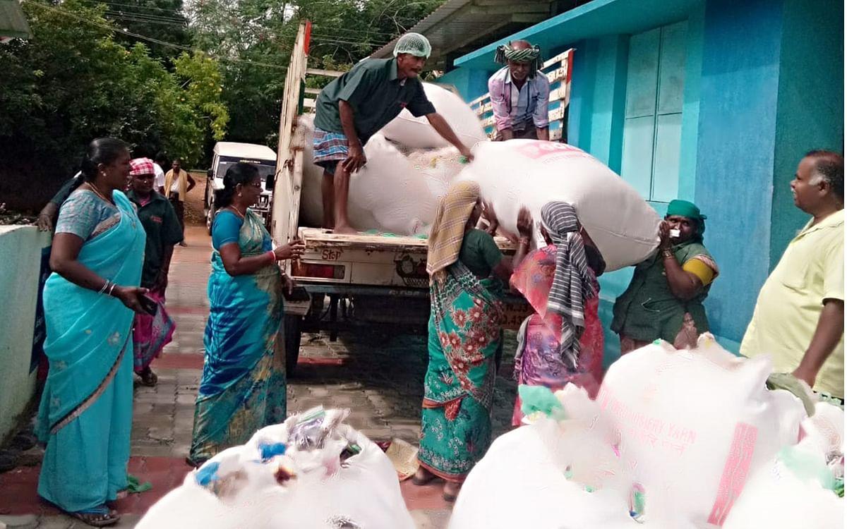 `4 டன் பிளாஸ்டிக் சிமென்ட்  ஆலைக்கு விற்பனை!'- கரூர் மாவட்ட நிர்வாகத்தின் சூப்பர் முயற்சி