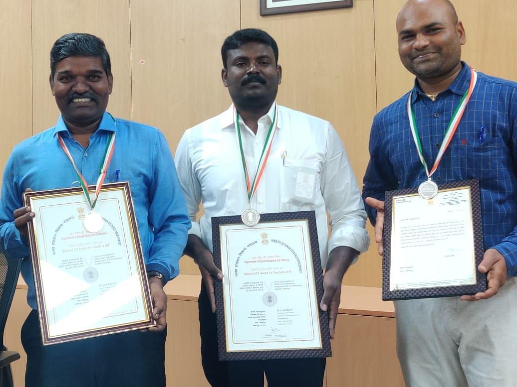 தேசிய விருது பெற்ற தமிழகத்தின் மூன்று அரசுப் பள்ளி ஆசிரியர்கள்! #ICT_Award