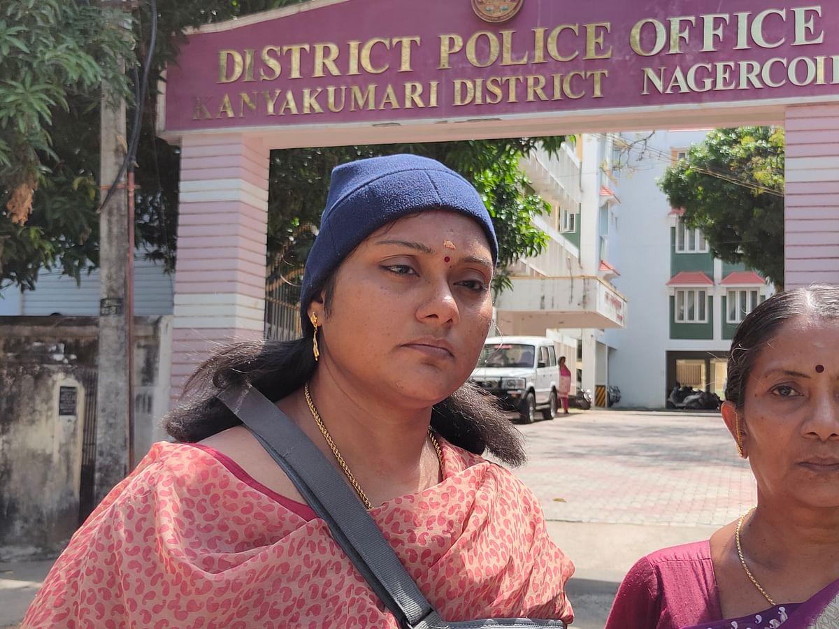 எஸ்.பி. அலுவலகத்தில் புகார் அளித்த நளினகுமாரி