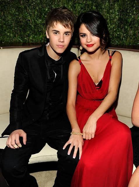 Justin with Selena Gomez