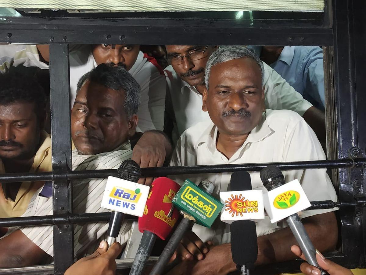 'மக்கள் அதிகாரம்'  ஒருங்கிணைப்பாளர் வழக்கறிஞர் ராஜு