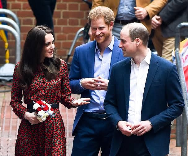 Kate with Harry and William
