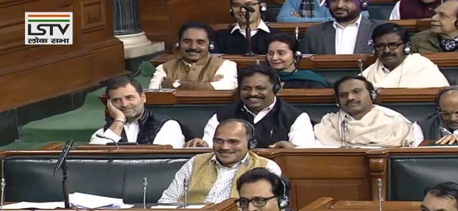 மக்களவையில் ராகுல் காந்தி