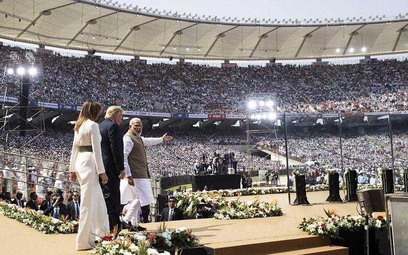 `சச்சின் முதல் கோலி வரை... தீவிரவாதம் முதல் ராணுவம் வரை!' - `நமஸ்தே ட்ரம்ப்' ஹைலைட்ஸ் #LiveUpdate