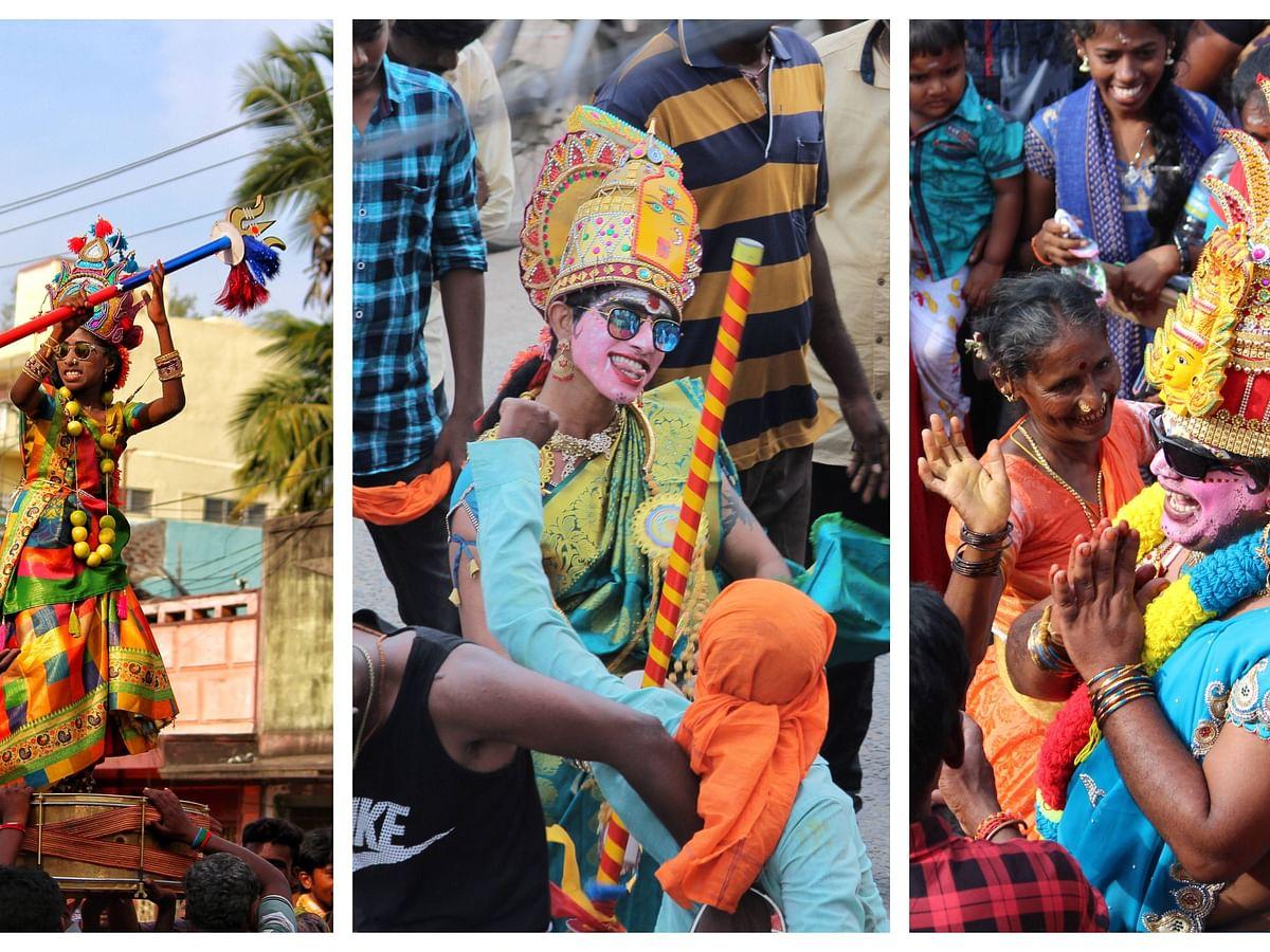 திண்டிவனத்தில் நடைபெற்ற மாசி அமாவாசை மயான கொள்ளை வழிபாடு!