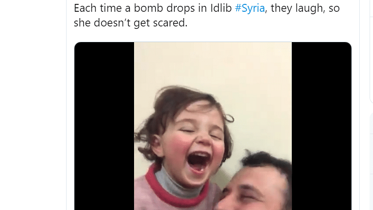 Syrian child laughing