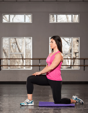 Kneel down posture