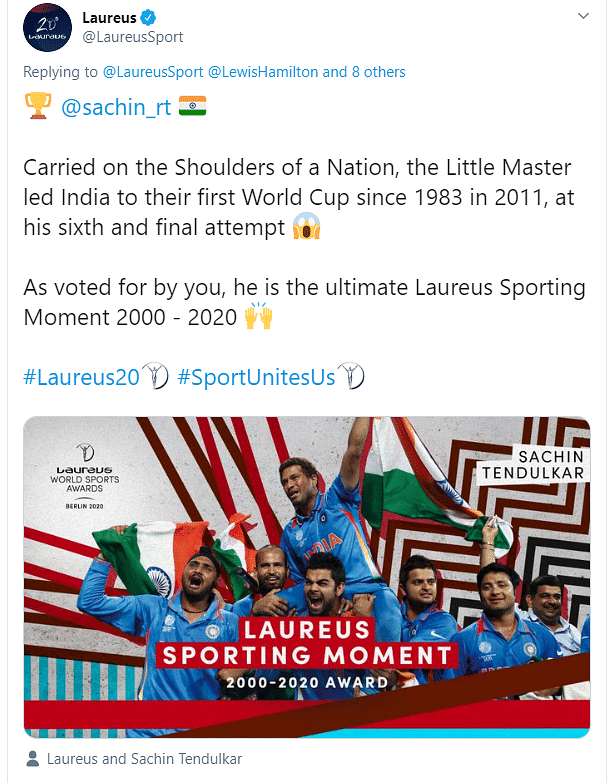 Laureus Tweet