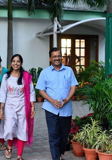 Arvind Kejriwal and sunitha Kejriwal