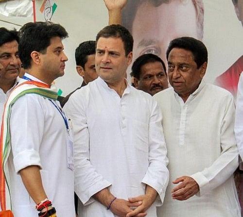 ராகுல், கமல்நாத் , ஜோதிராதித்யா