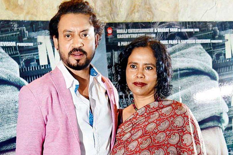 Actor Irrfan's wife Sutapa