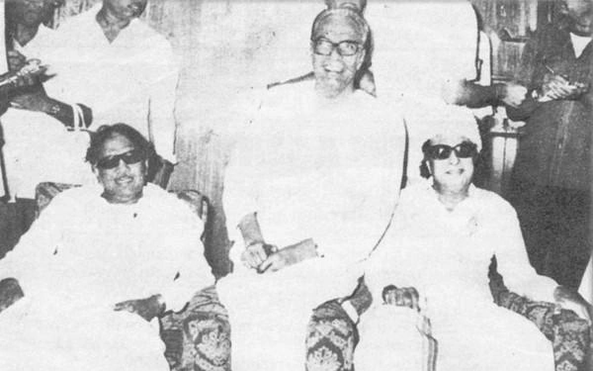 ரஜினி சொன்ன பாணியில் கட்சிக்கு கருணாநிதி, ஆட்சிக்கு எம்.ஜி.ஆர்...1979-ல் நடந்தது என்ன?