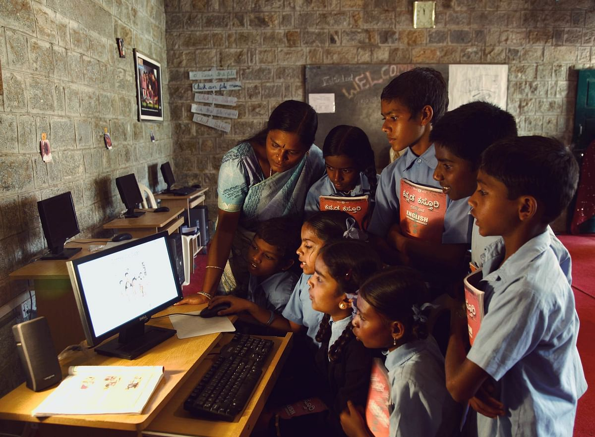 Students Learning Digitally