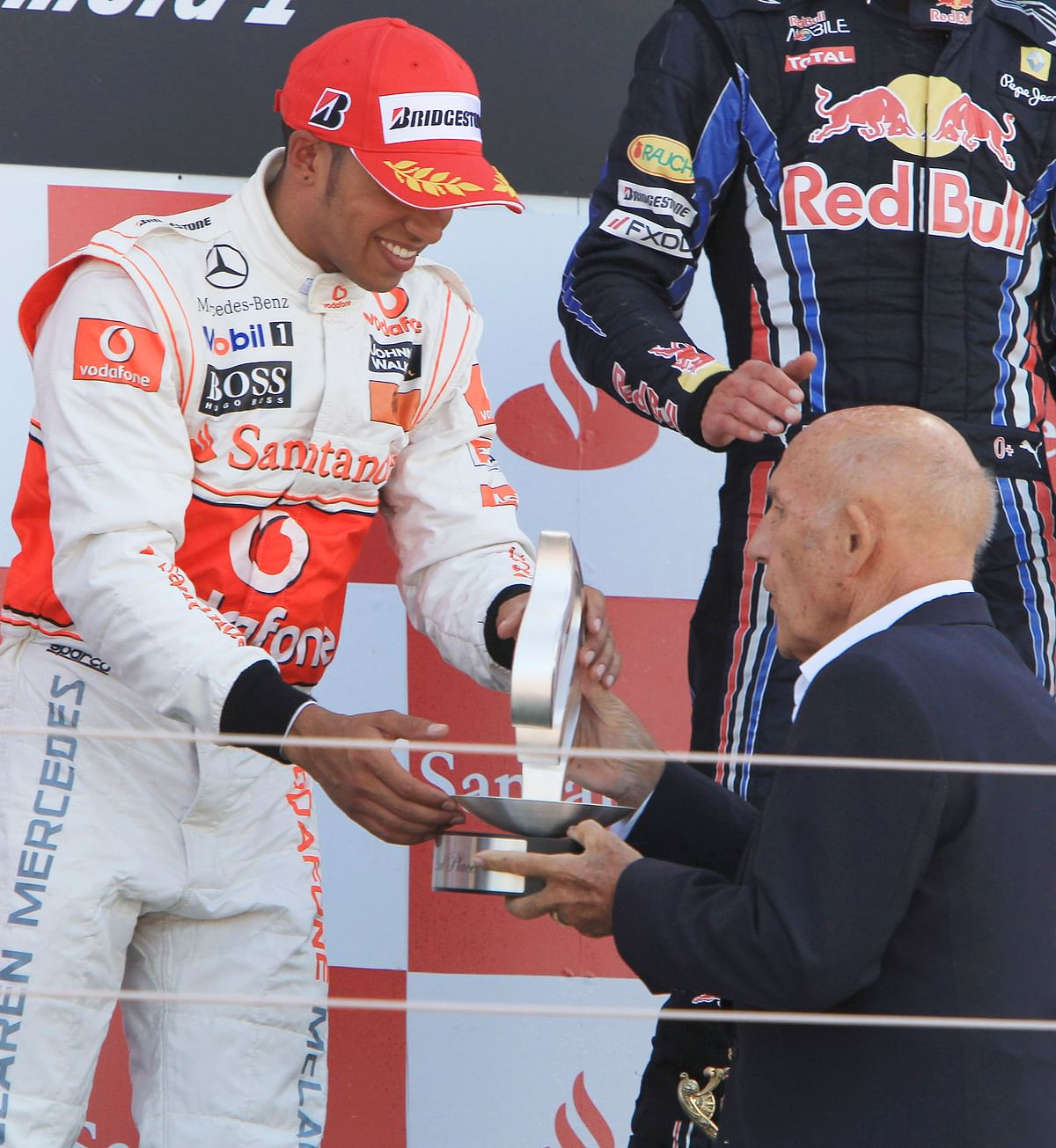 Lewis hamilton with sir stirling moss