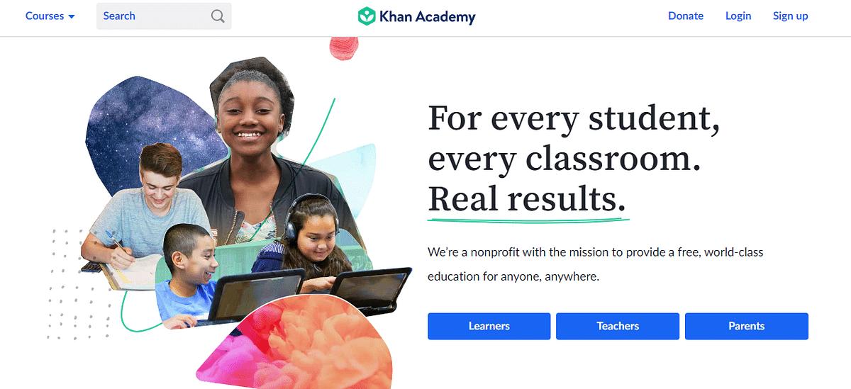 Khan Academy Website