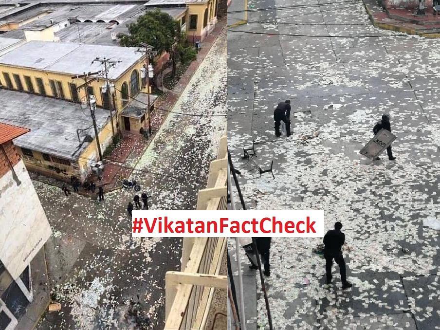 இத்தாலியில் மக்கள் தங்கள் பணத்தைத் தெருக்களில் வீசி எறிந்தது உண்மையா..?  #VikatanFactCheck