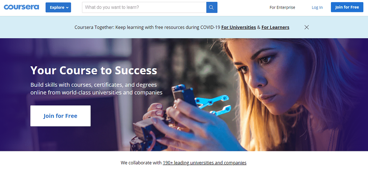 Coursera Website