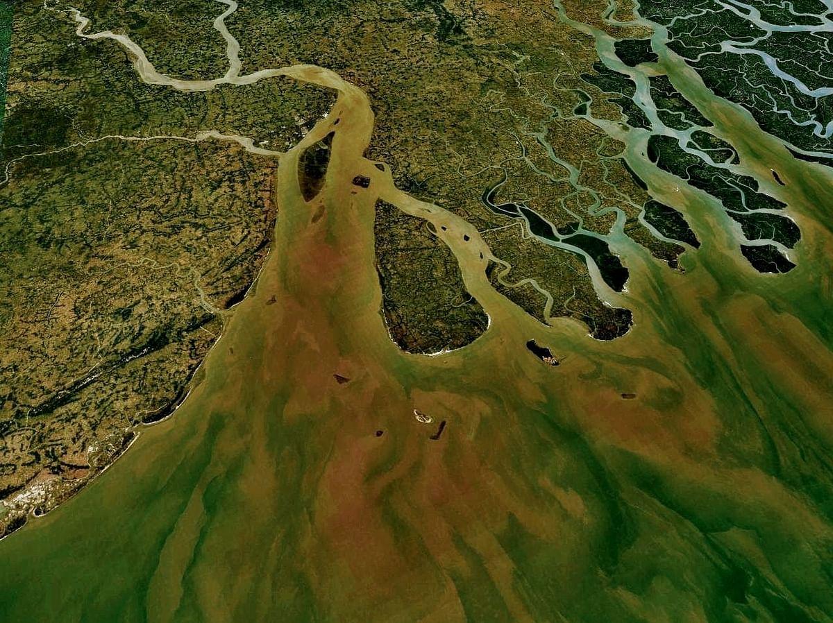 River Ganga, Ariel View