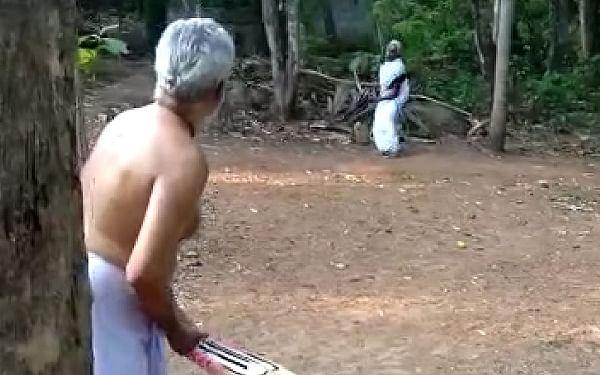 கேரள முதிய தம்பதியின் லாக்டௌன் கால கிரிக்கெட்! #ViralVideo