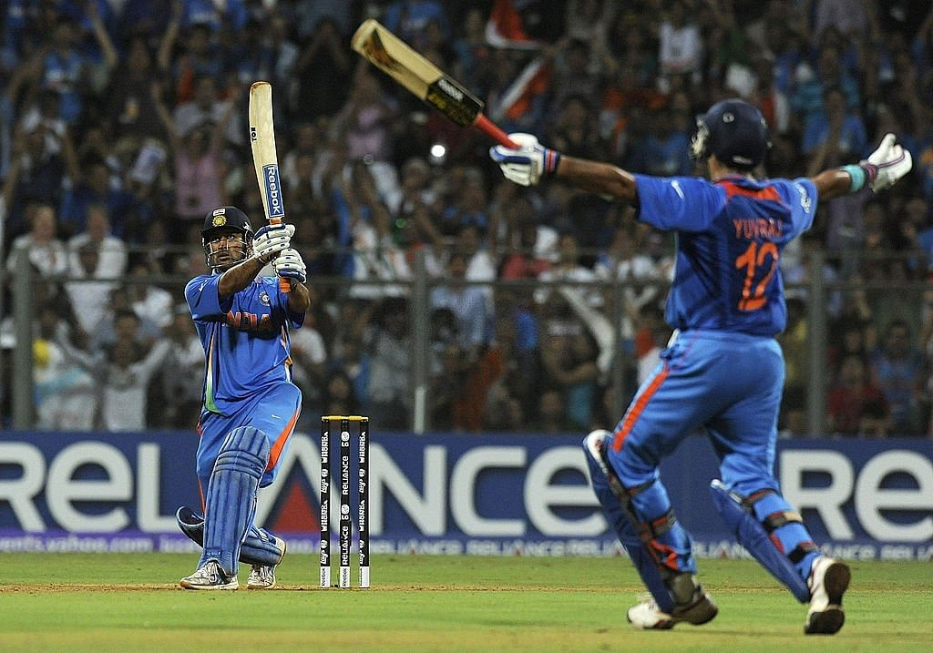MS Dhoni and Yuvraj Singh in 2011 WC
