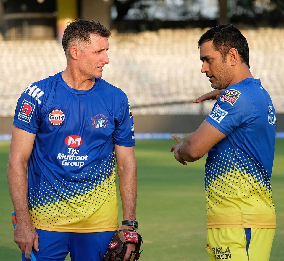 Mike Hussey, M.S.Dhoni