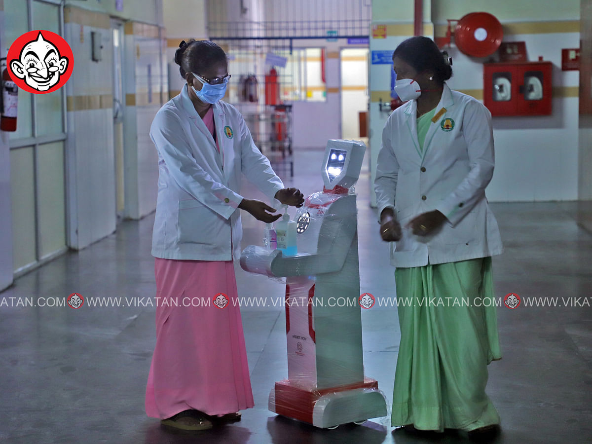 கொரோனா வார்டில் ரோபோ... இரவில் ஒளிர்ந்த விளக்குகள்... வாகனங்கள் பறிமுதல்! #Day12 #Curfew
