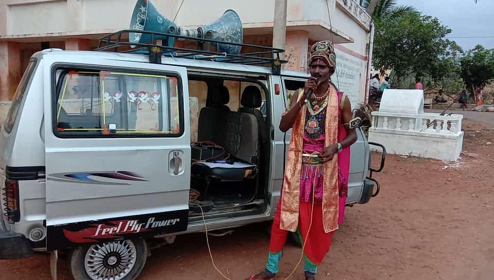 விஜயகாந்த் நூதனப் பிரசாரம்