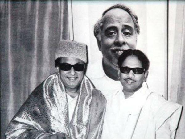 எம்.ஜி.ஆர்., கருணாநிதி