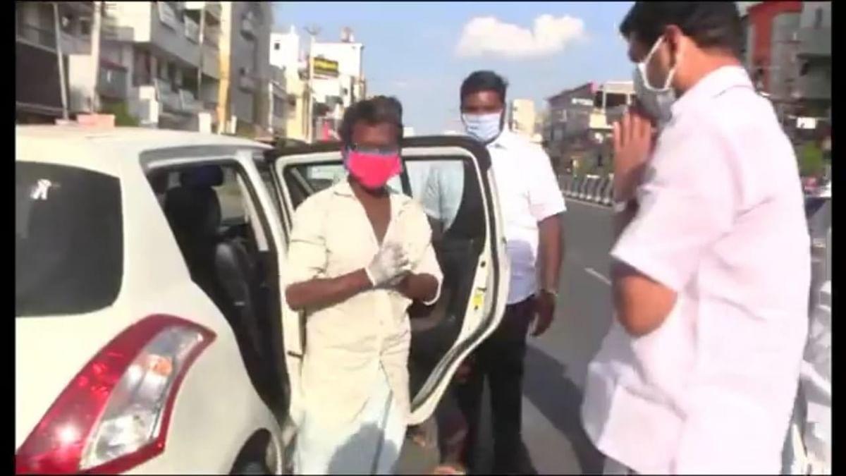கலியமூர்த்தியை வழியனுப்பும் செந்தில் பாலாஜி