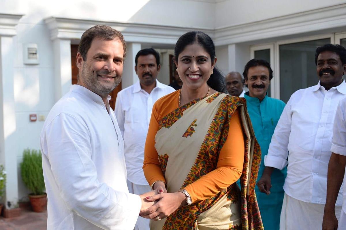 ராகுல் காந்தியுடன் விஜயதரணி