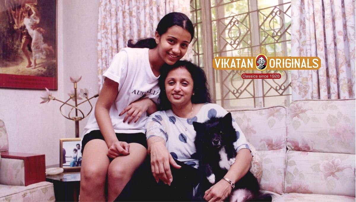 அம்மா உமாகிருஷ்ணனுடன் த்ரிஷா
