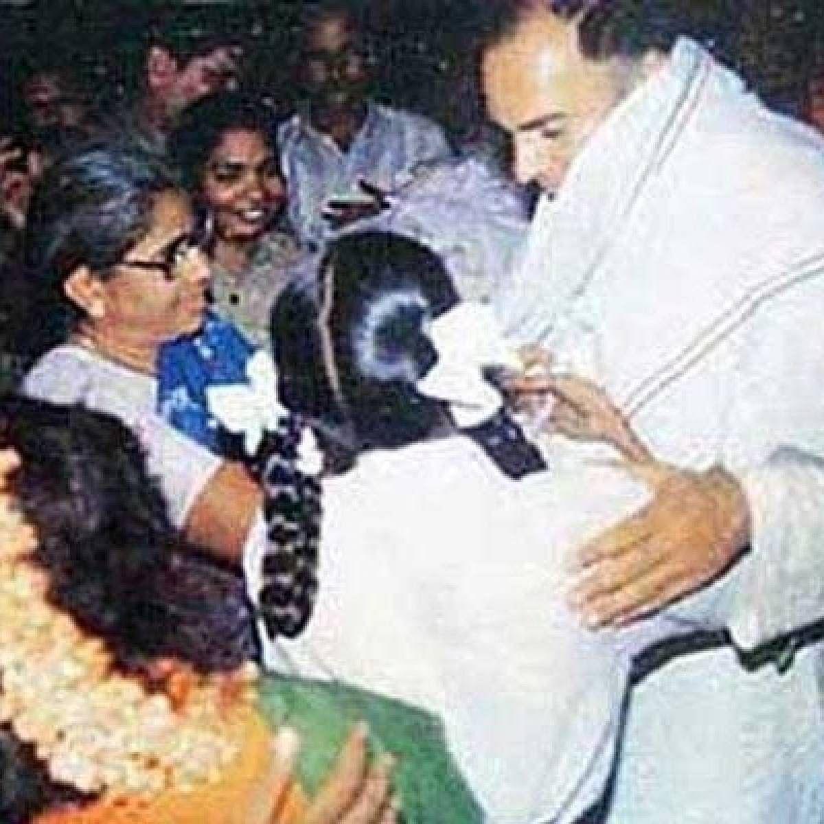 ஸ்ரீபெரும்புதூர் கூட்டத்தில் ராஜீவ் காந்தி