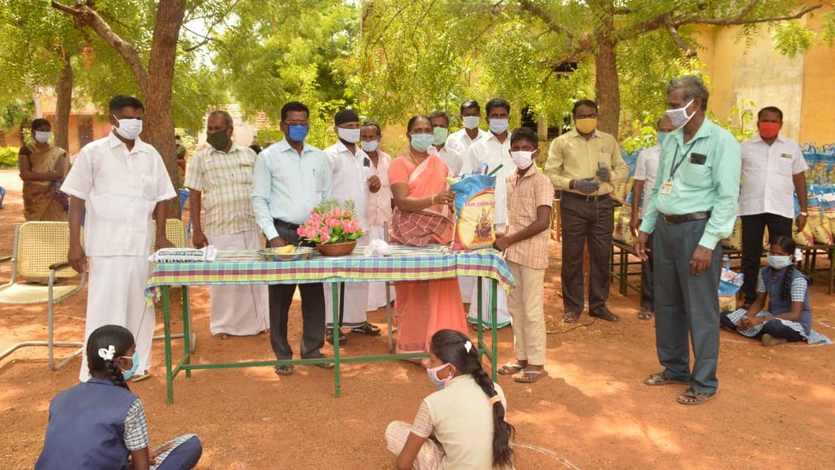 200 ஏழை மாணவர்களின் குடும்பங்களுக்கு நிவாரண உதவி