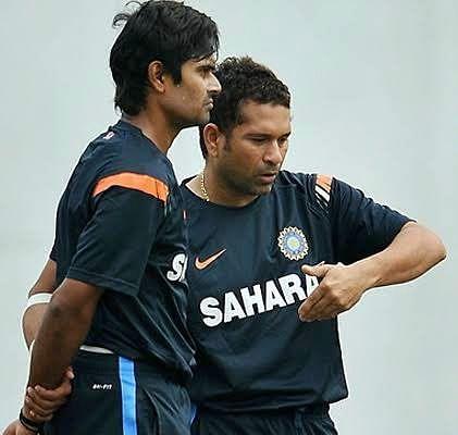 S.Badrinath with Sachin  Tendulkar