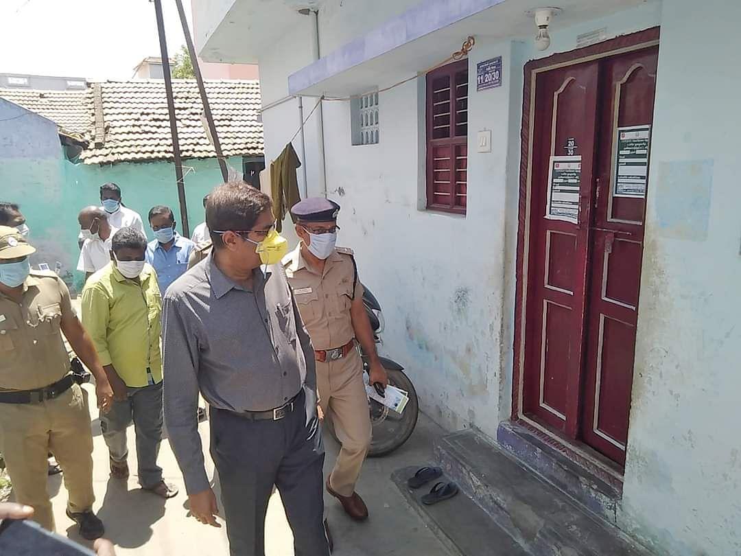 ஆய்வுப் பணியில் கலெக்டர் மெகராஜ்