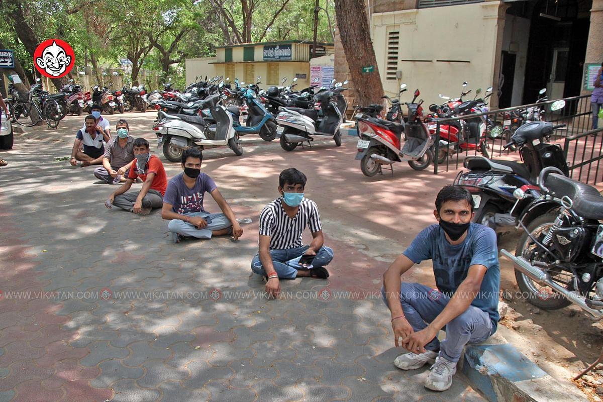 வெளிமாநில ஊழியர்கள் தங்கள் சொந்த ஊருக்கு செல்ல மாவட்ட ஆட்சியர் அலுவலகத்தில் பதிவு செய்து கொண்டனர்