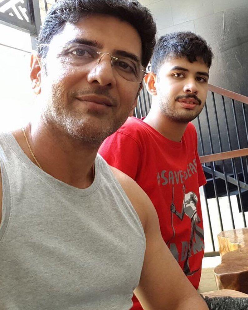 Actor Prithviraj(Babloo) With His Son