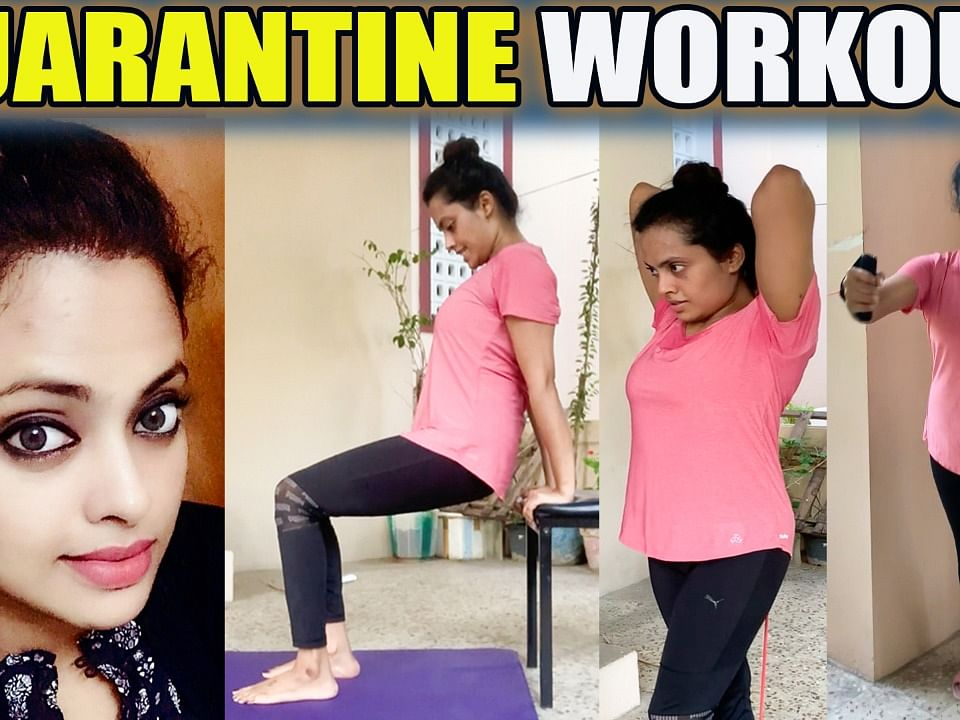 5 Minutes: Full Body Workout @ Home | Yamuna Chinnadurai | TV Actress