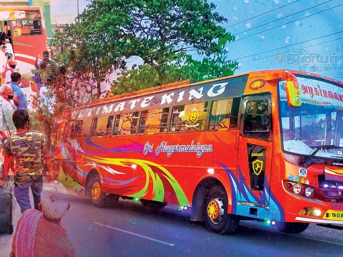 வட மாநில பக்தர்களுக்கு பேருந்து ஏற்பாடு... பா.ஜ.க நிர்வாகி  மீது பாயும் புகார்!
