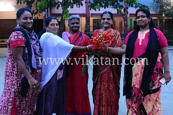 மாநகராட்சி ஆதரவ்ற்றோர் மையத்தில் கோமதி அம்மாள்