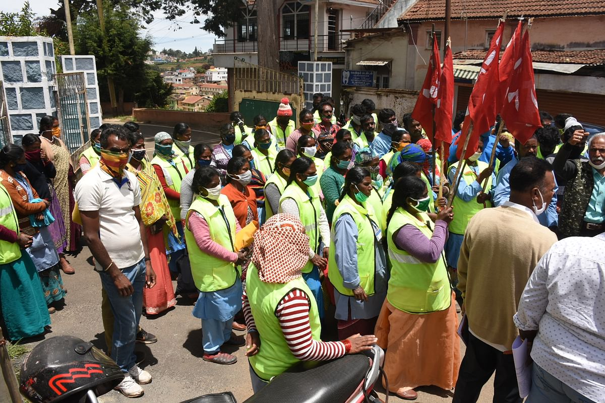 sanitary workers