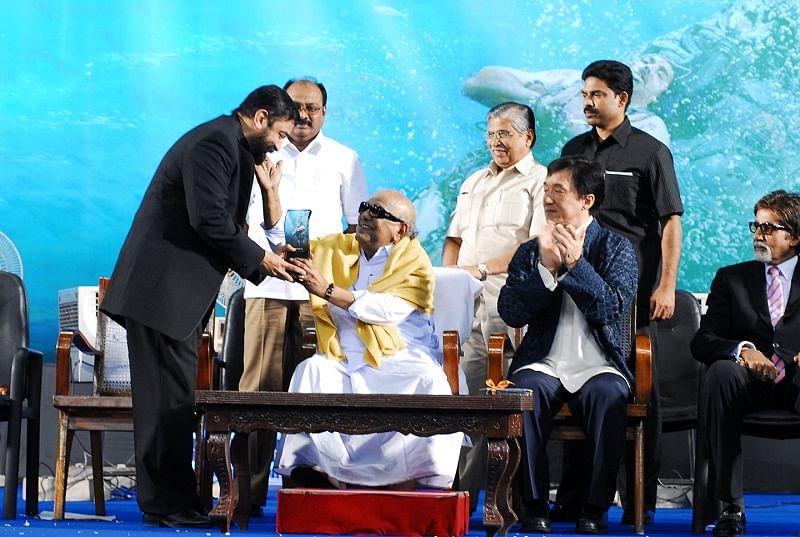karunanidhi, Jackie Chan, Amitabh Bachchan and Kamal Haasan
