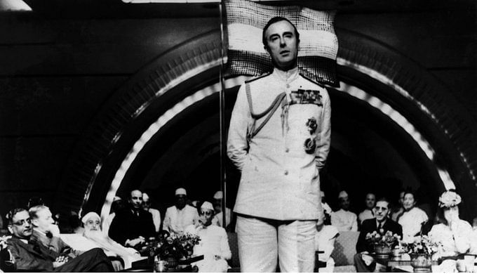 Mountbatten speech during the nation's first Independence Day celebration