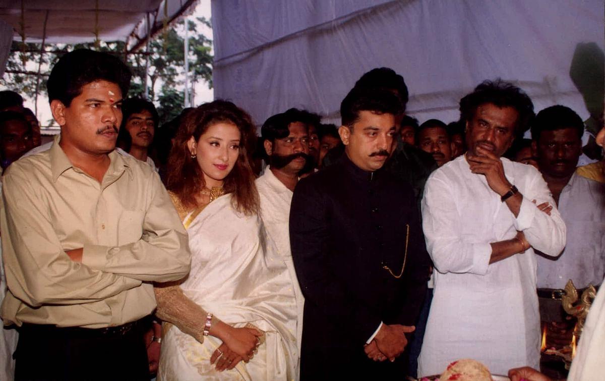 Rajinikanth, Kamal Haasan, Shankar and Manisha Koirala